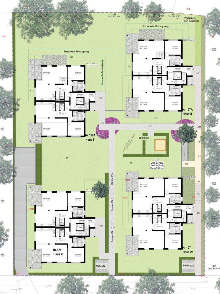 Außenanlagen und Grundrisse