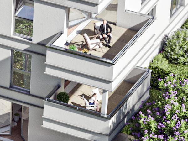 Etagenwohnung mit Balkon