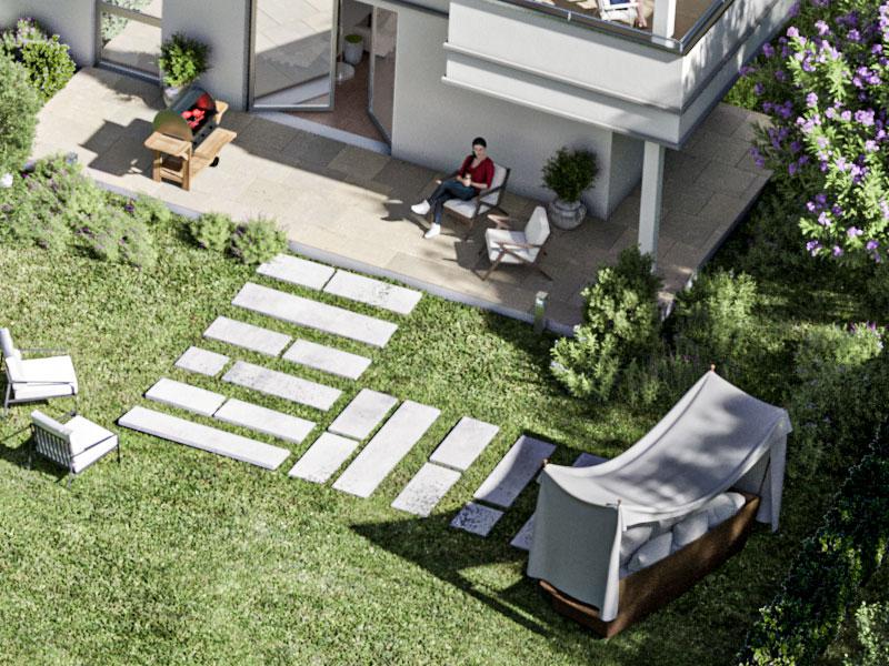 Garten-Maisonette-Wohnung