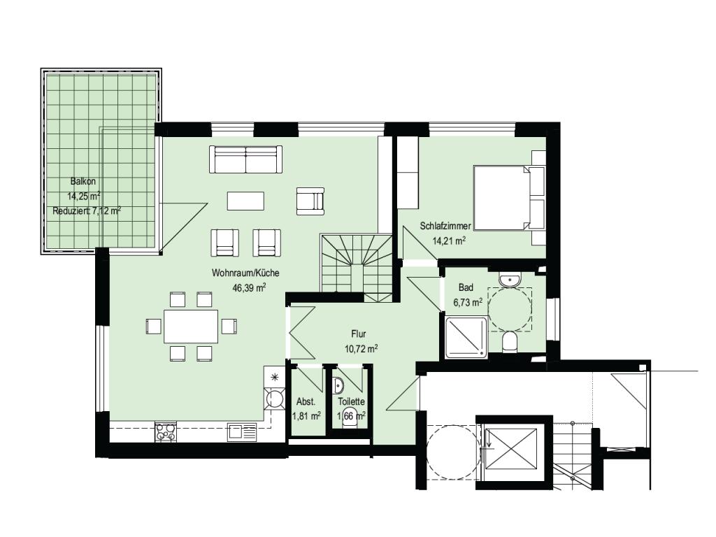 Maisonette-Wohnung - Erdgeschoß